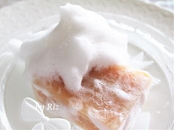 米豊のこだわり石鹸の泡