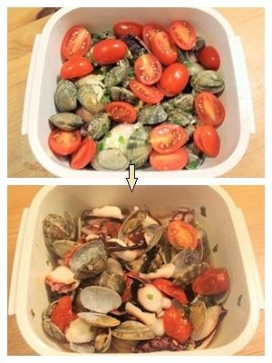 グルラボでタコとアサリのトマト煮