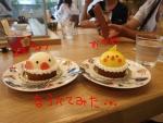 オカメと文鳥ケーキ