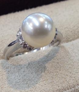 真珠のリングのサイズ直し
