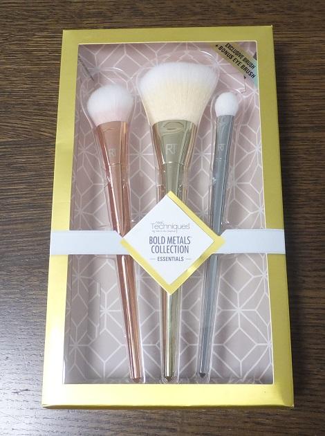 リアルテクニクスby Samantha Chapman, Bold Metals Collection, Essentials Brush Kit, 3 Brushes