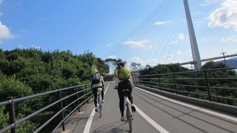 多々羅大橋のスロープ