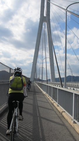 多々羅大橋を走ります。