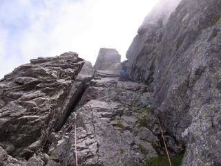 4P目登攀中