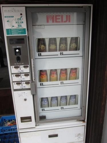牛乳瓶自販機