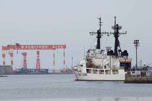 アメリカ沿岸警備隊「メロン」と住友重機械マリンエンジニアリング横須賀造船所