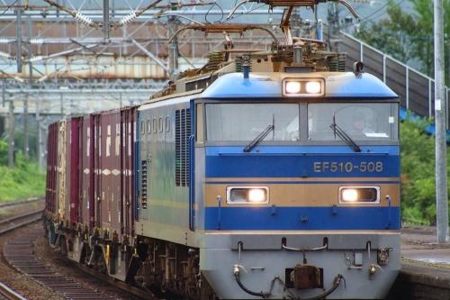 EF510-508牽引貨物列車 来迎寺駅