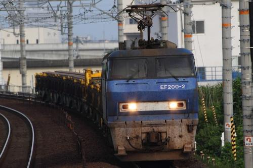 EF200-2牽引8090レ(レール輸送) 逢妻駅