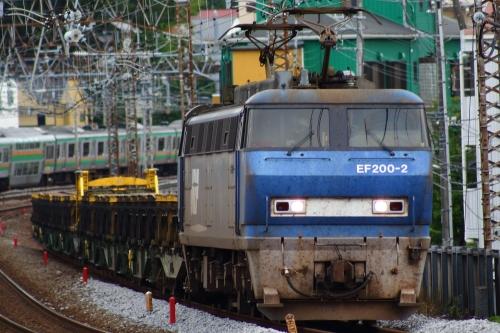 EF200-2牽引8090レ(レール輸送) 戸塚駅