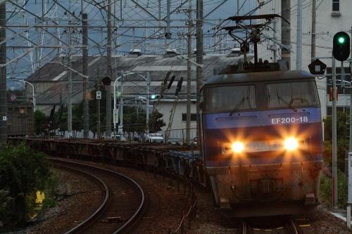 EF200-18代走・5095レ 新蒲原駅