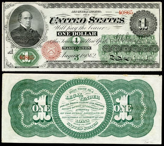 Image of one dollar Greenback
