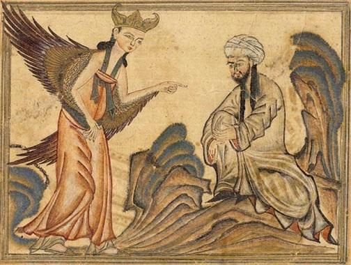 ムハンマドに天啓を授けるジブリール