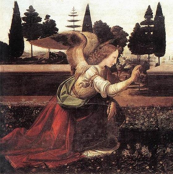 レオナルドが描いた大天使ガブリエル