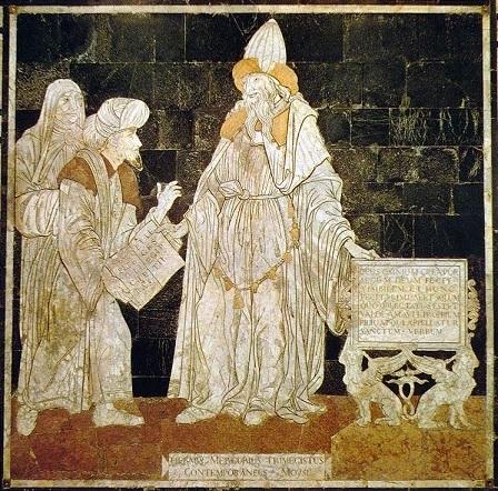 ヘルメス・メルクリウス・トリスメギストス、シエナ大聖堂舗床のモザイク画