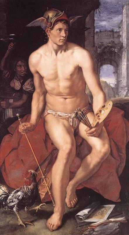ヘンドリック・ホルツィウス 『Mercury by hend rickgoltzius』