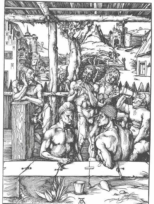 アルブレヒト・デューラー『男子入浴図』 1496-1497