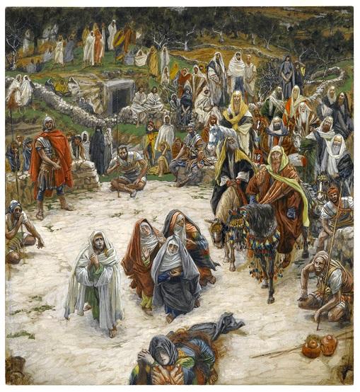 ジェームズ・ティソ『十字架上から見たキリストの磔刑』 1890年頃