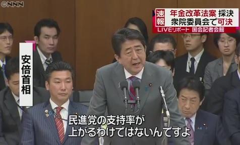 安倍総理 民進党 支持率