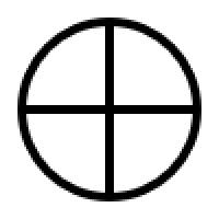 単純な太陽十字