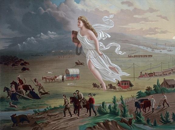 ジョン・ガスト 『アメリカの進歩 明白なる天命』1872年