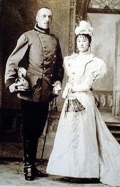 ハインリヒ・クーデンホーフ=カレルギーと妻の青山光子