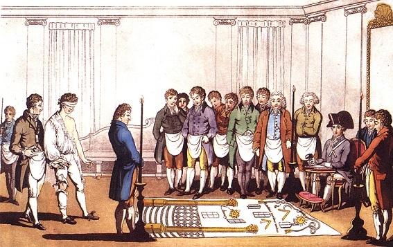 1800年頃の入会儀式の一部
