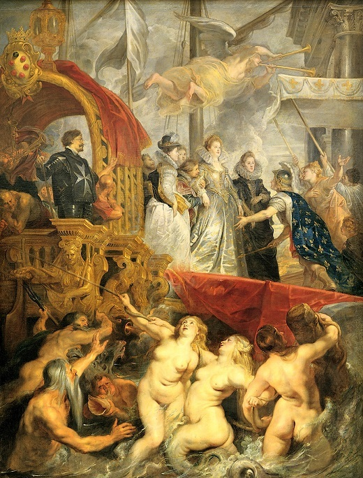 ピーテル・パウル・ルーベンス 『マリー・ド・メディシスの生涯』(1622年~1625年)より「マリーのマルセイユ到着」