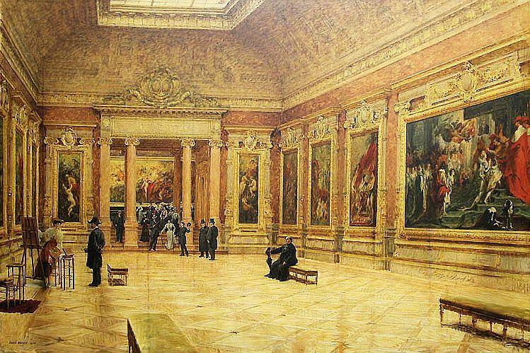 ルイ・ベローが描いた、ルーヴルで展示されている『マリー・ド・メディシスの生涯』(1904年)
