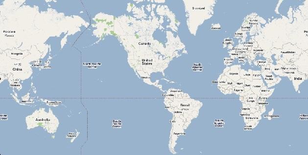 世界地図 アメリカ版
