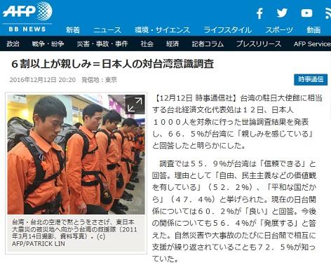 AFP 台湾 親しみ