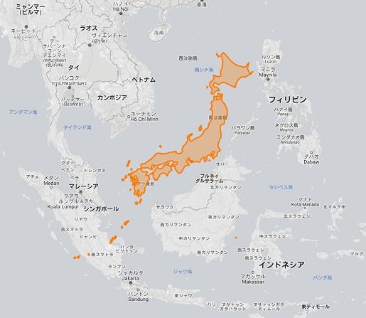 日本 東南アジア 地図