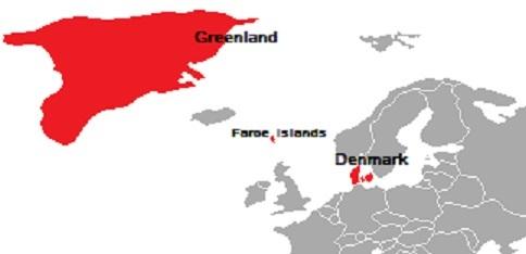 デンマーク王国の3つの構成国 グリーンランド、フェロー諸島、デンマーク