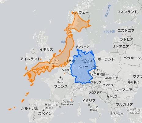 日本 ドイツ 地図 2