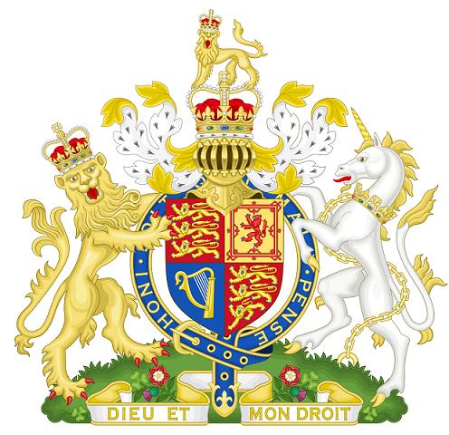 現在のイギリスの国章