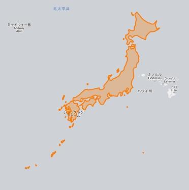 日本 ハワイ 地図