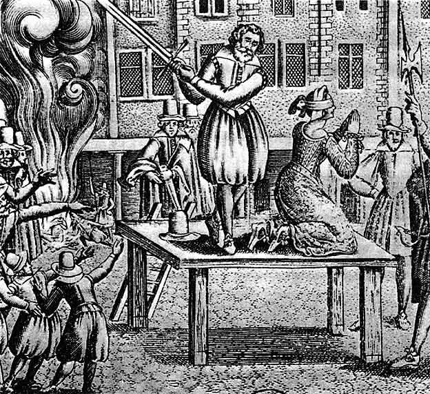 1617年フランスでの斬首刑を行う死刑執行人
