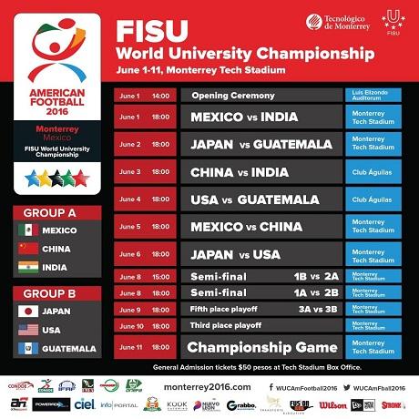 20160529アメフト大学世界選手権スケジュールの画像