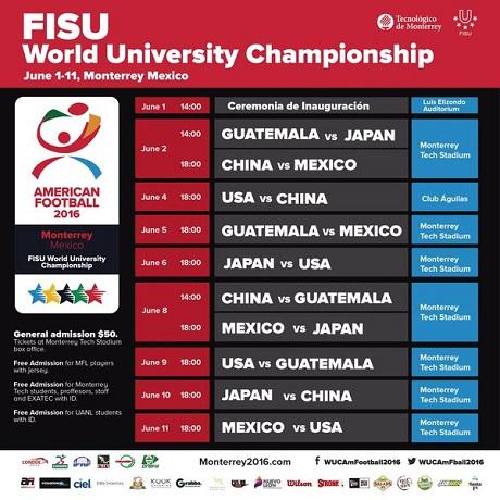 20160602アメフト大学世界選手権新スケジュール