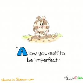 自分自身が不完全であるのを許してください。