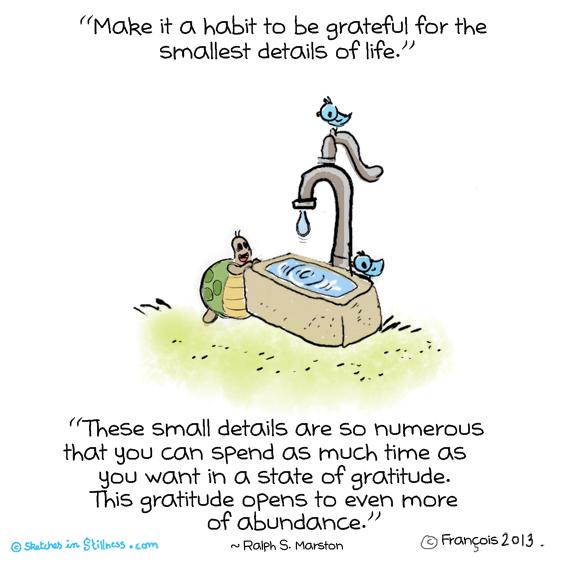 最も細部にも感謝することを習慣としてください