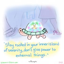 あなたの内側の静寂の島に根ざして滞在しましょう