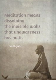 瞑想とは見えない壁を解き明かすことである