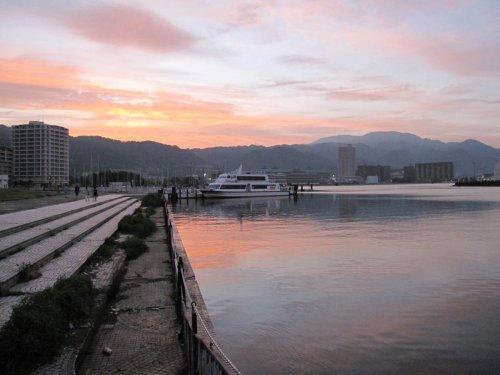 5琵琶湖夕景
