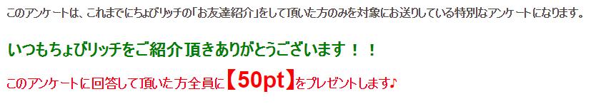 ちょびアンケート2