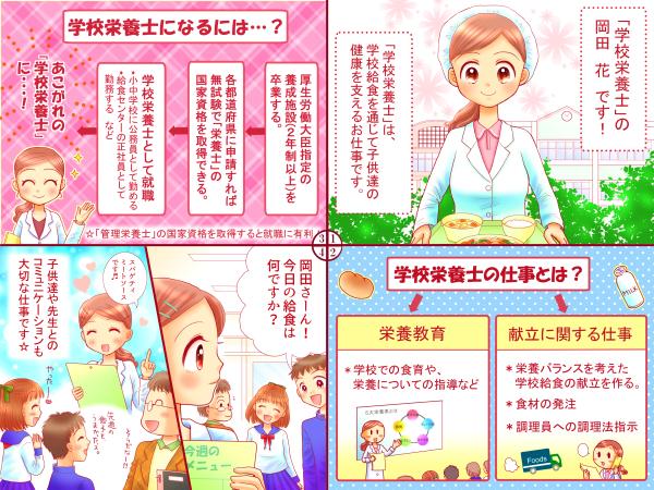 学校栄養士-4コマ漫画(統合)600ブログ用