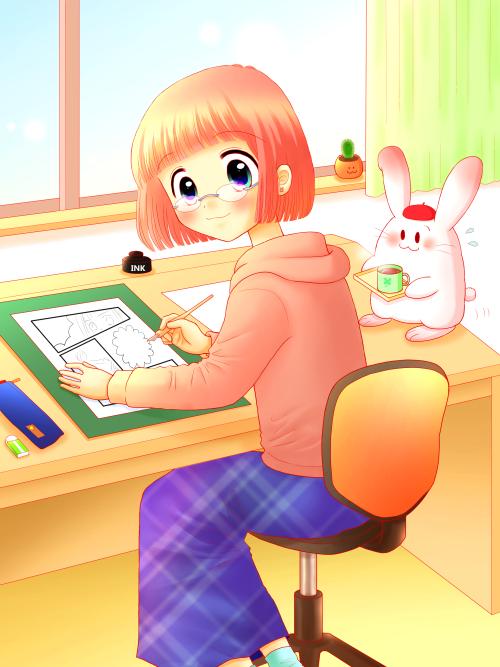 漫画家-メインラスト(完成)全身-ブログ用500