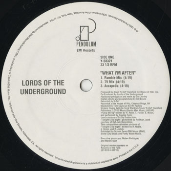 HH_LORDS OF THE UNDERGROUND_WHAT IM AFTER_201604
