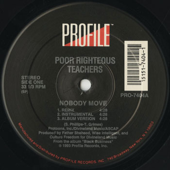 HH_POOR RIGHTEOUS TEACHERS_NOBODY MOVE_201604