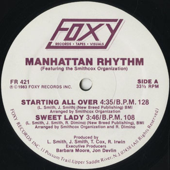 DG_MANHATTAN RHYTHM_STARTING ALL OVER_201608