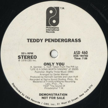 DG_TEDDY PENDERGRASS_ONLY YOU_201610